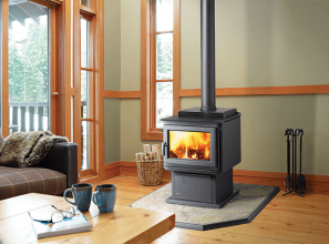 Hybrid catalytic woodstove heaters with 24-hour burn time