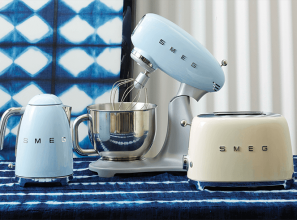 A range of 1950s-style mixers, toasters and kettles