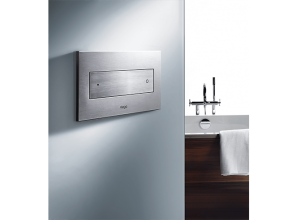Inwall cistern and push plates for minimalist bathroom décor