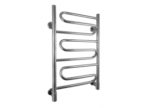 European-style heated towel rails with plug-in and hard-wiring options