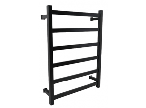 Black heated towel rails