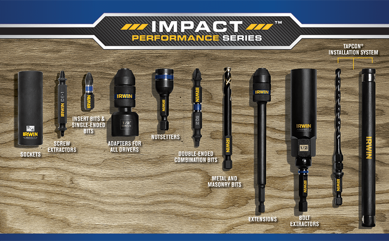 Irwin Tools Accessories For Impact Drivers Hand Tools