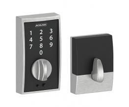 Keyless front-door locks in slim profile with touch control