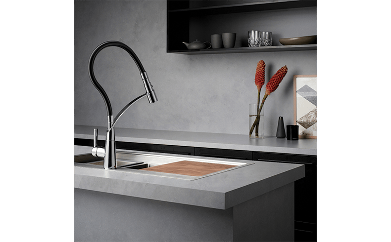 Kitchen Mixer Tap With Flexible Hose And Spray Options