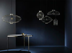 Wire pendant lights with a contemporary twist to traditional Japanese lanterns