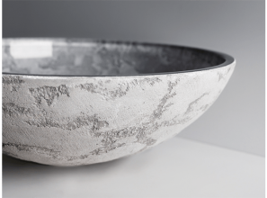 Artisan crafted basins from Florence in Murano Glass, crystal and polymers