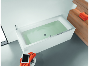 An audio system that pumps music through the water as you enjoy bath-time