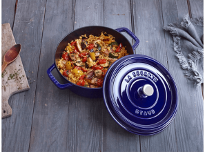 Staub releases range of cast iron cooking cocottes in Marin Blue finish