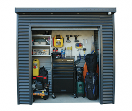 Smaller secure storage locker for townhouses and apartments