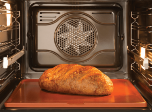 Refractory cooking stone that's placed in ovens to cook pizza and breads