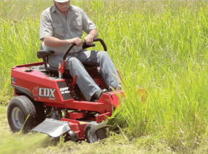 Aussie-made ride-on mower that turns around within its own length