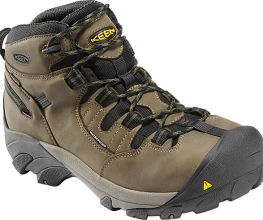 Lightweight work boot with a steel toe