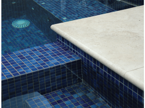 Spanish glass mosaic pool tiles in eight ranges from Amber Tiles