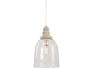 Collection of budget-priced pendant lights in timber and glass