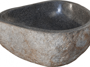 Small Maputo Riverstone basins for the bathroom