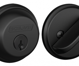 Schlage lever sets, deadbolts and keyless entry-pads in matte black