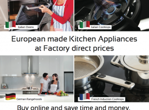Buy kitchen appliances direct and save up to 40% on prices
