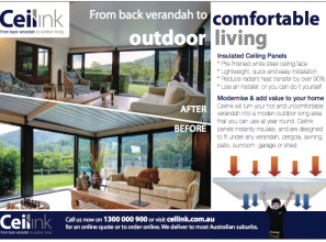 Convert your back verandah into a comfortable outdoors living space
