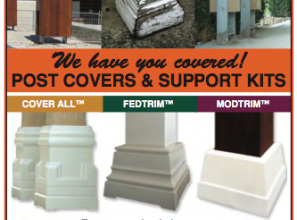 Post-covers and post-support kits for timber posts