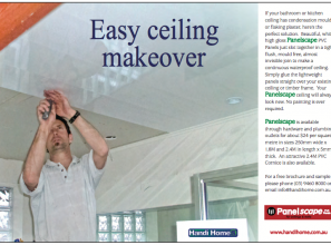 DIY easy ceiling makeover with PVC-panels