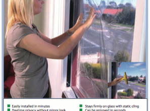 Removable DIY tinted window film without that mirror-look
