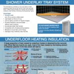 Marmox Shower Underlay and Underfloor Heating