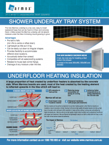 Marmox Shower Underlay and Underfloor Heating