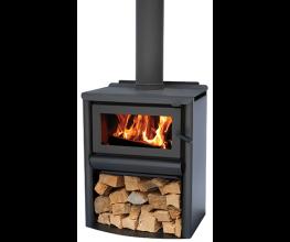 Traditional cottage-style wood burning heater