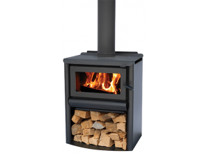 Traditional cottage-style wood burning heater