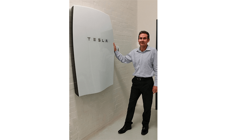 101011_Solahart's-Steve-Cranch-with-Tesla-Powerwall