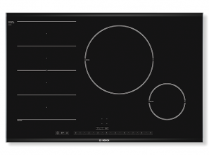 80cm FlexInduction cooktop with automatic pan recognition
