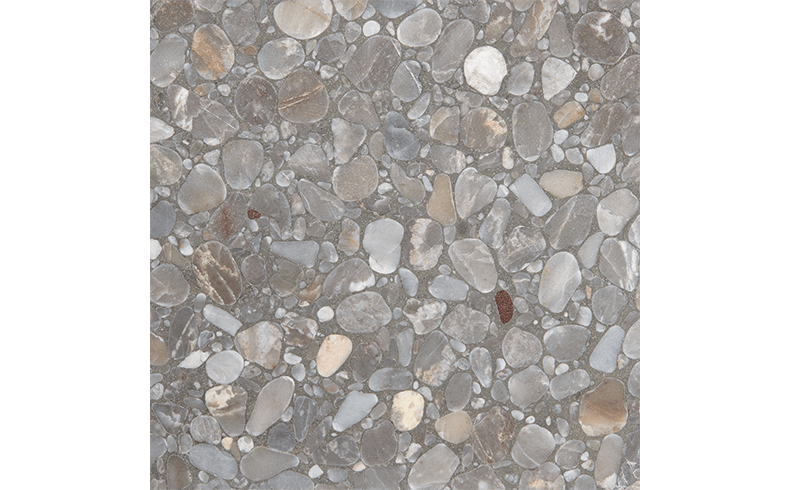 Terrazzo Floor Tile With An Appealing Glow Of Silver Grey