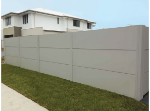 Architectural fencing with a modular wall system