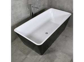 Matte black designer baths in three styles from $899 to $1499