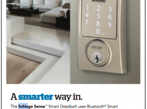 Smart front door lock that can be opened with a voice-command