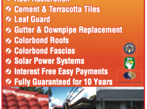 Complete range of roof-restoration and roof repairs for Melbourne