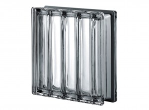 New glass brick in Doric style for bathrooms, glass walls and windows