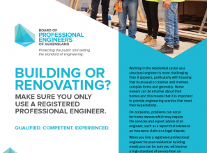 Whenever renovating or building use only a registered professional engineer