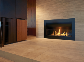 Zero-clearance fireplace solution