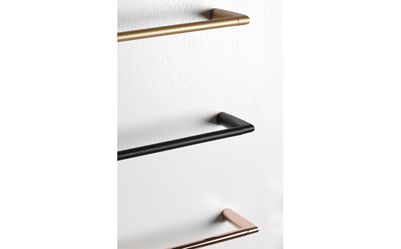 102018_Pittella_Bathroom-Accessories_Cut-Collection_A4121-Towel-Rail_Rose-Gold_Black-Opaque_Satin-Brass_02