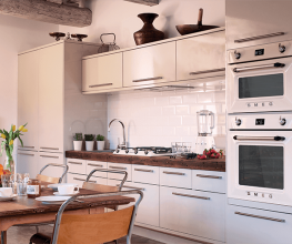 Collection of Victoria built-in cooking appliances from Italian supplier Smeg