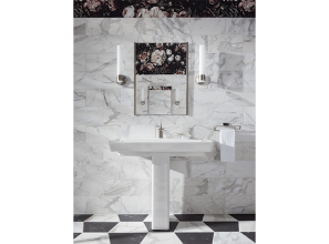Bathrooms renovated with marble-look tiles and Kohler bathroomware
