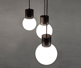 Brass and glass bespoke pendants from Melbourne designer Ben Tovim