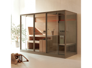 Turkish Bath and Finnish Sauna combination for domestic installations
