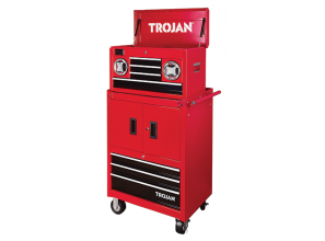 Trojan tool chest and trolley with Bluetooth speakers