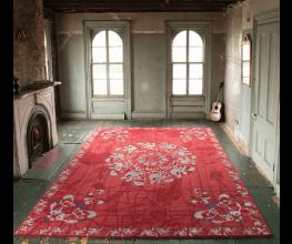 Handmade rugs from Nepal designed by Brooklyn artist Amy Helfand