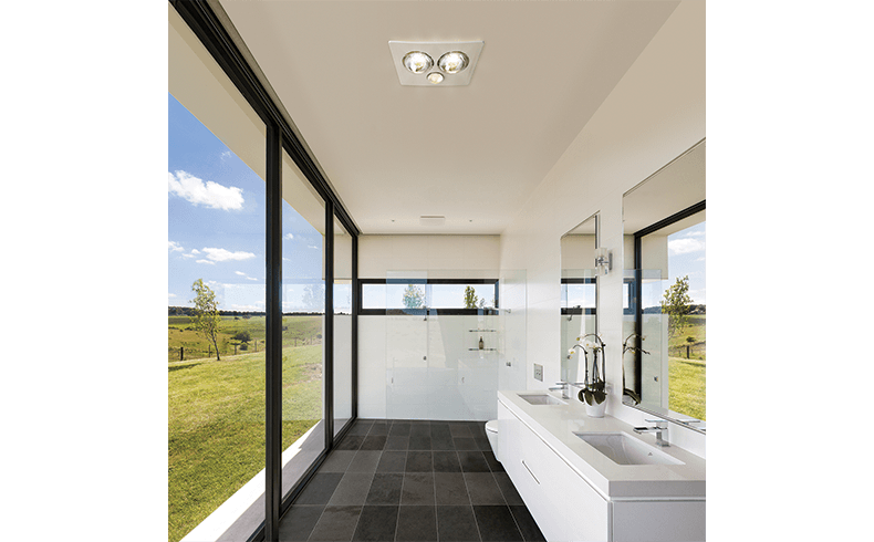 Heat light for bathroom