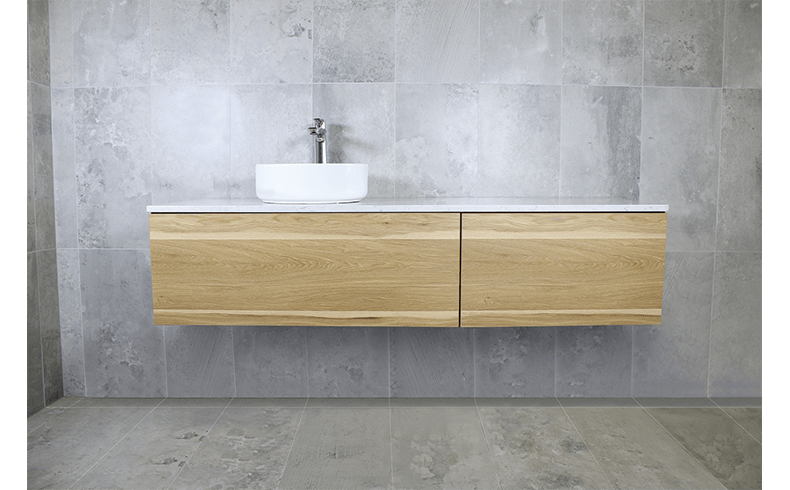 Wall hung bathroom vanities in several sizes and for Bathroom configurations