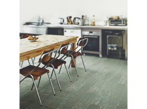 Timber-look floor tiles in blue, green, black, mocha and sand colours from Beaumont's