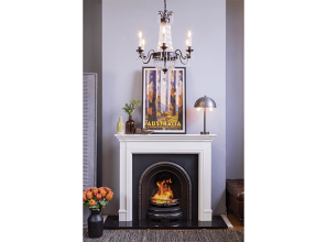 Hand-carved limestone mantlepieces that suit period-style home-renovating